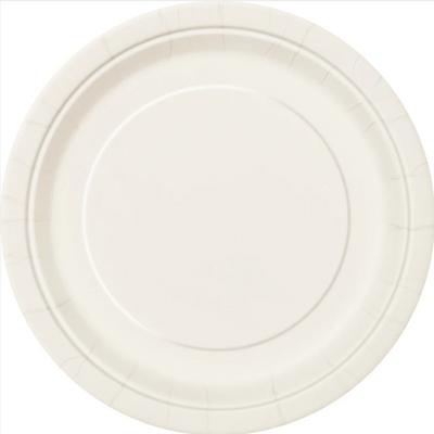 Ivory Paper Plates 23cm (8 Pack)