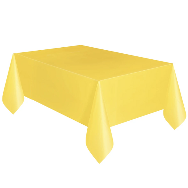 Yellow Plastic Table Cover 1.37m x 2.74m