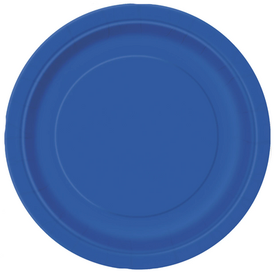 Royal Blue Paper Plates 23cm (8 Pack)