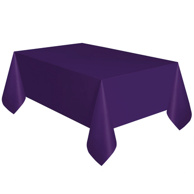Deep Purple Plastic Table Cover 1.37m x 2.74m
