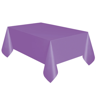 Purple Plastic Table Cover 1.37m x 2.74m