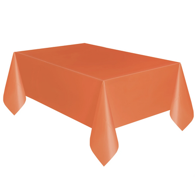 Orange Plastic Table Cover 1.37m x 2.74m