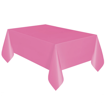 Hot Pink Plastic Table Cover 1.37m x 2.74m