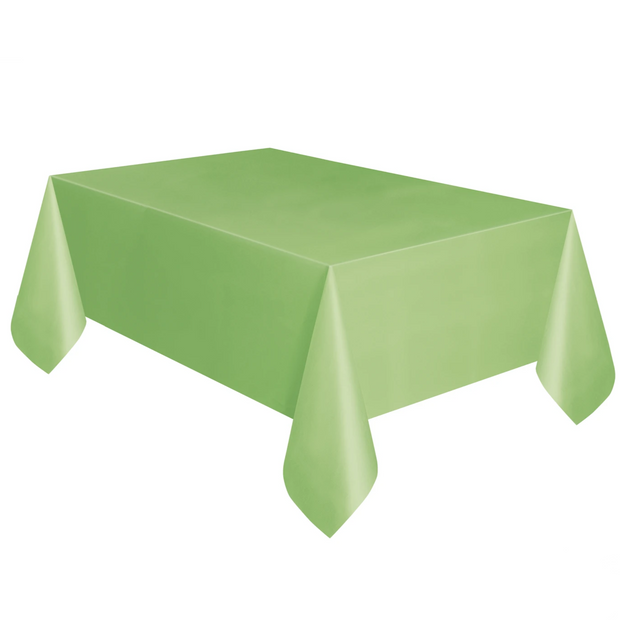 Lime Green Plastic Table Cover 1.37m x 2.74m