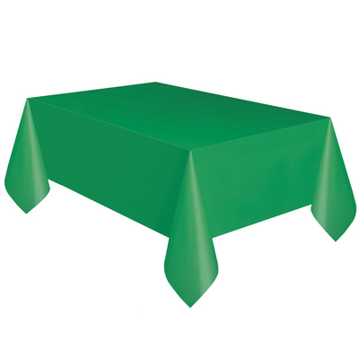 Emerald Green Plastic Table Cover 1.37m x 2.74m