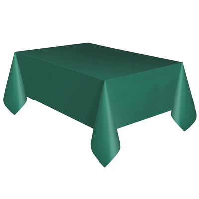 Forest Green Plastic Table Cover 1.37m x 2.74m