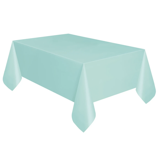 Mint Plastic Table Cover 1.37m x 2.74m