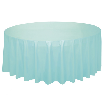 Mint Round Plastic Table Cover 2.1m