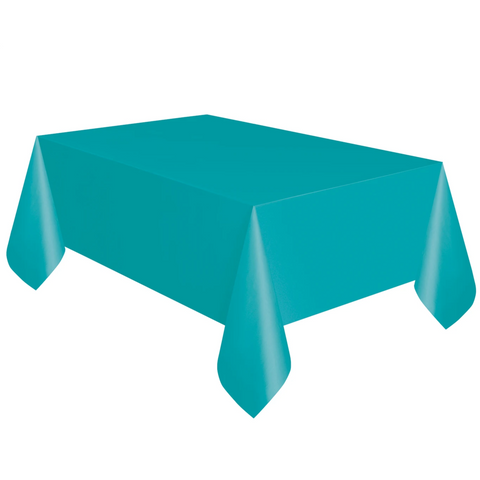 Teal Plastic Table Cover 1.37m x 2.74m