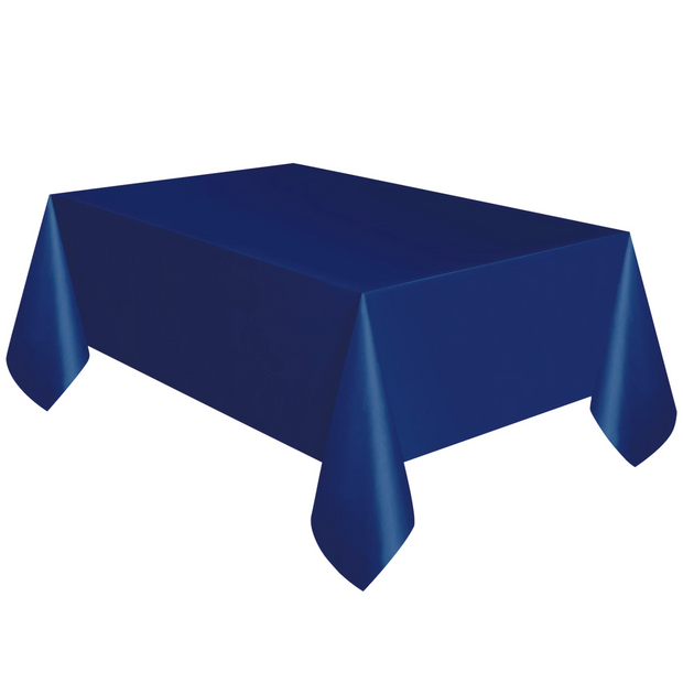 Navy Blue Plastic Table Cover 1.37m x 2.74m