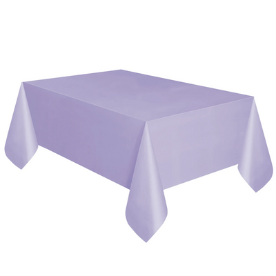 Lavender Plastic Table Cover 1.37m x 2.74m