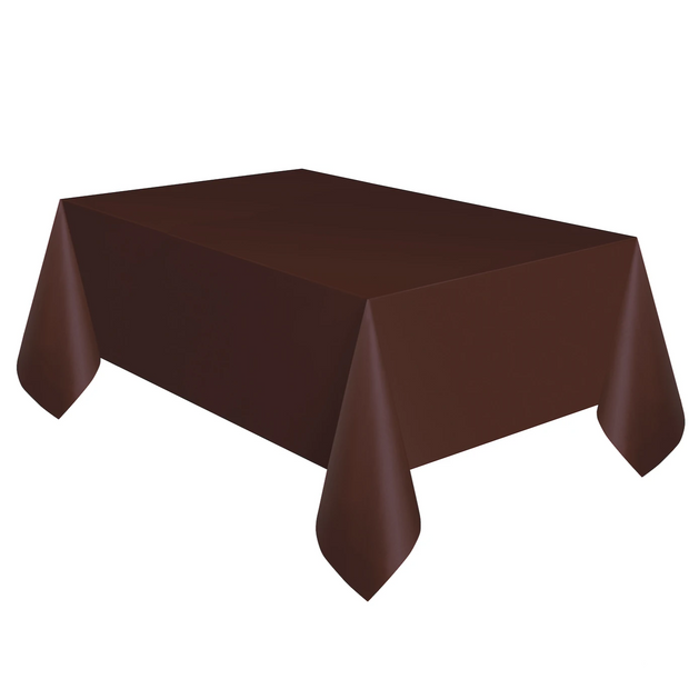 Brown Plastic Table Cover 1.37m x 2.74m