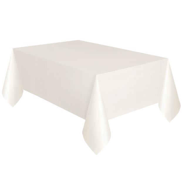 Ivory Plastic Table Cover 1.37m x 2.74m