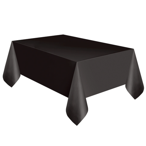 Black Plastic Table Cover 1.37m x 2.74m