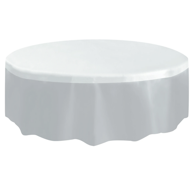 Clear Round Plastic Table Cover 2.1m