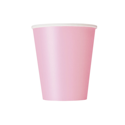 Baby Pink Paper Cups 270ml (8 Pack)