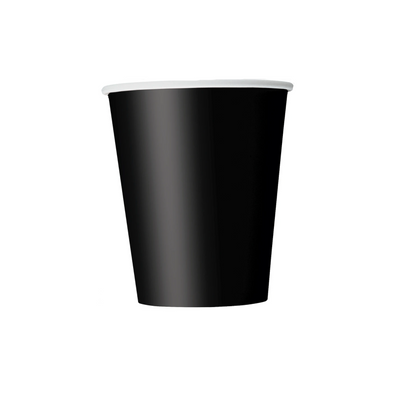 Black Paper Cups 270ml (14 Pack)