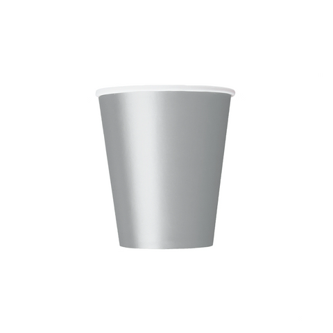 Silver Paper Cups 270ml (8 Pack)