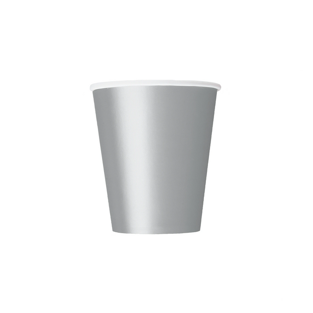 Silver Paper Cups 270ml (14 Pack)