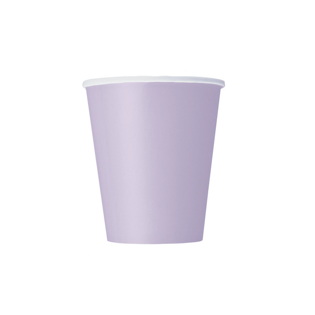 Lavender Paper Cups 270ml (8 Pack)