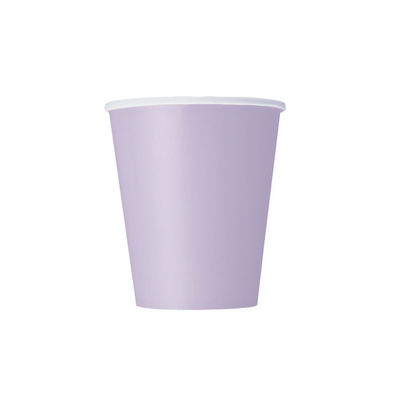 Lavender Paper Cups 270ml (14 Pack)