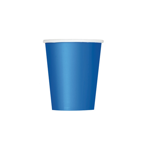 Royal Blue Paper Cups 270ml (8 Pack)