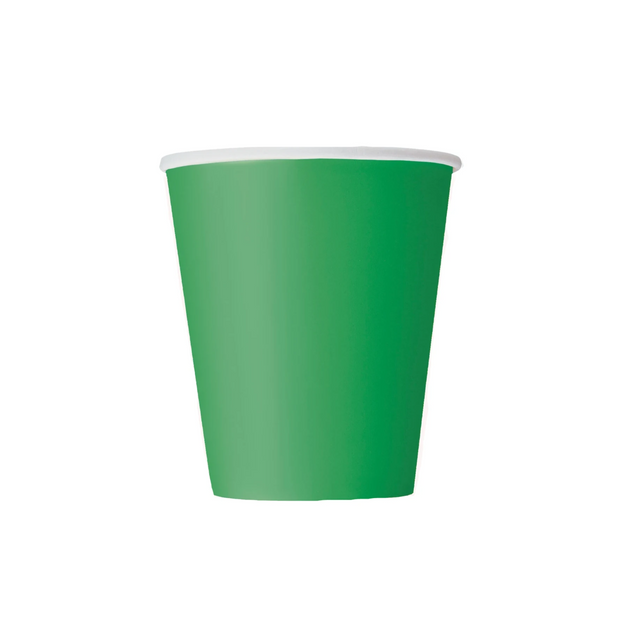 Emerald Green Paper Cups 270ml (14 Pack)