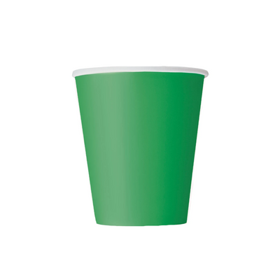 Emerald Green Paper Cups 270ml (8 Pack)