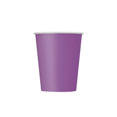 Purple Paper Cups 270ml (8 Pack)