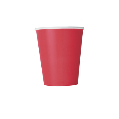 Red Paper Cups 270ml (14 Pack)