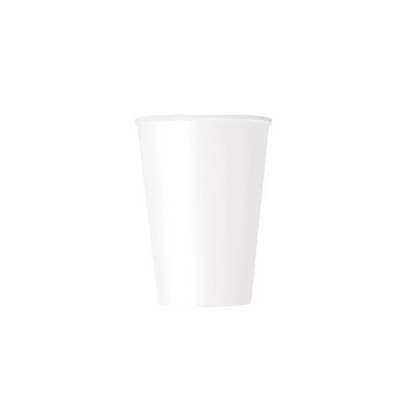 White Paper Cups 270ml (8 Pack)