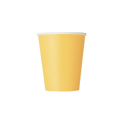 Yellow Paper Cups 270ml (8 Pack)