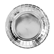Metallic Silver Paper Plates 18cm (6 Pack)