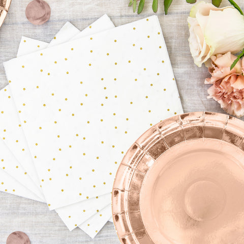 Rose Gold Paper Plates 18cm (6 Pack)