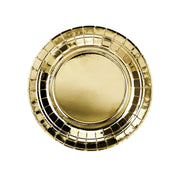Metallic Gold Paper Plates 18cm (6 Pack)