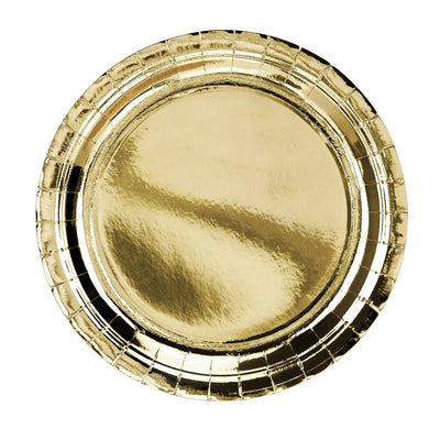 Metallic Gold Paper Plates 23cm (6 Pack)