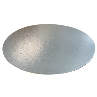 Round Cut Edge Cake Board Card Silver - All Sizes