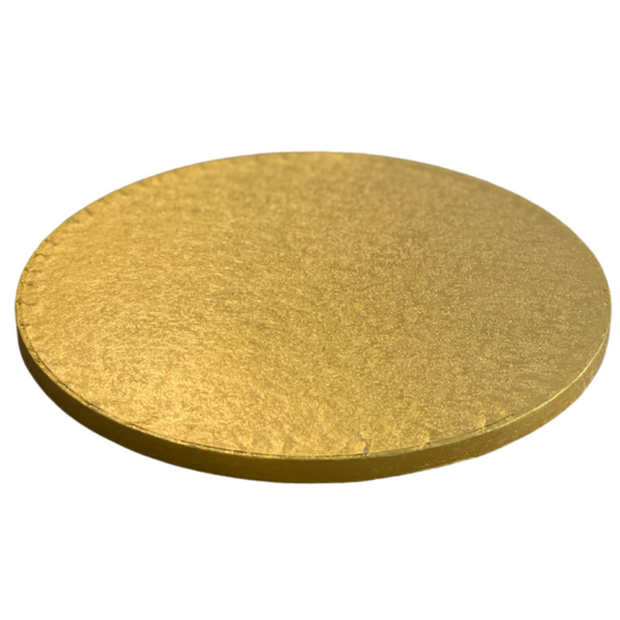 Round Cake Drum Board Gold - All Sizes