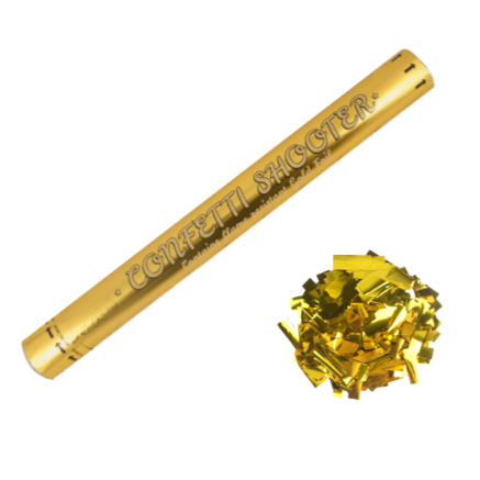 Gold Foil Confetti Shooter Cannons - 2 Sizes Available
