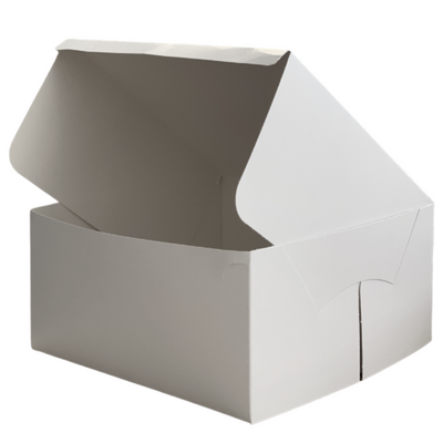 Folding Cake Box White - All Sizes