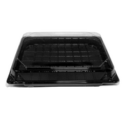 Black Sushi Trays & Lids (Pack of 10) - 3 Sizes Available