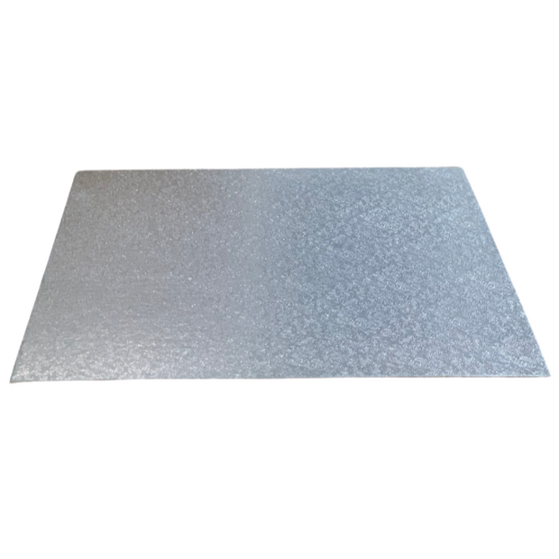 Square Single Thick Cake Board Card Silver - All Sizes