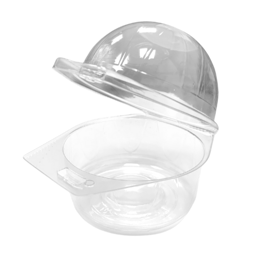 Plastic Hinged Cupcake Muffin Pods - Clear (Pack of 25)