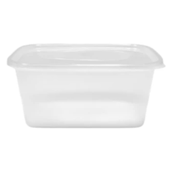 Plastic Microwaveable Containers & Lids (Pack of 25) - 3 Sizes Available