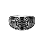 Bague Viking Helm Of Awe - Argent