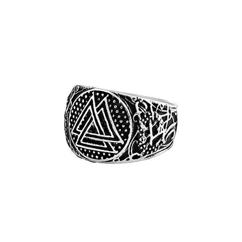 Bague Viking triangle d'Odin
