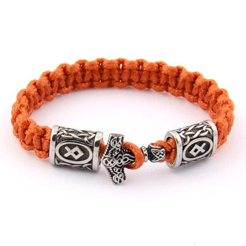Bracelet Viking Corde Thor Orange