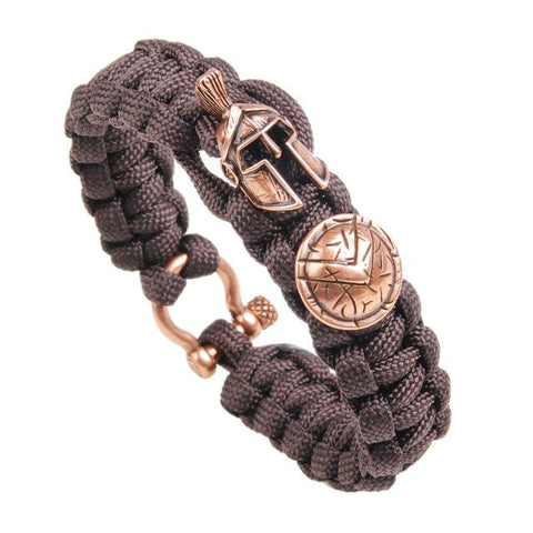 Bracelet Viking Guerrier Marron