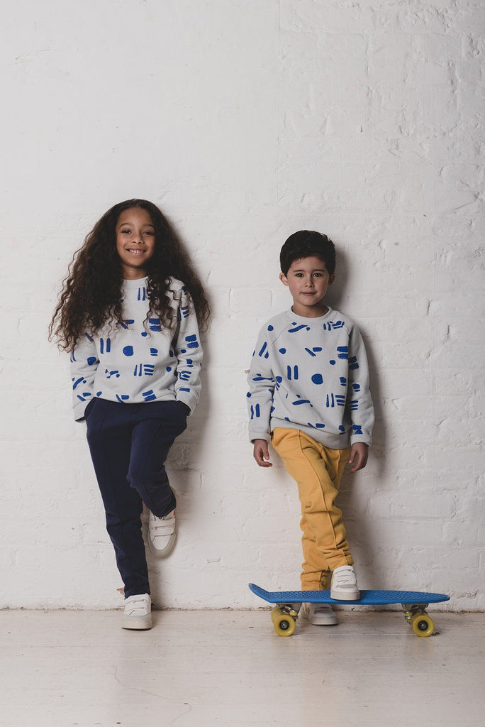 Line Dots Sweatshirt KIDS Sweatshirt Cub & Pudding