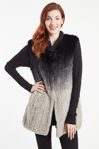 REX OMBRE KNIT LONG VEST #688